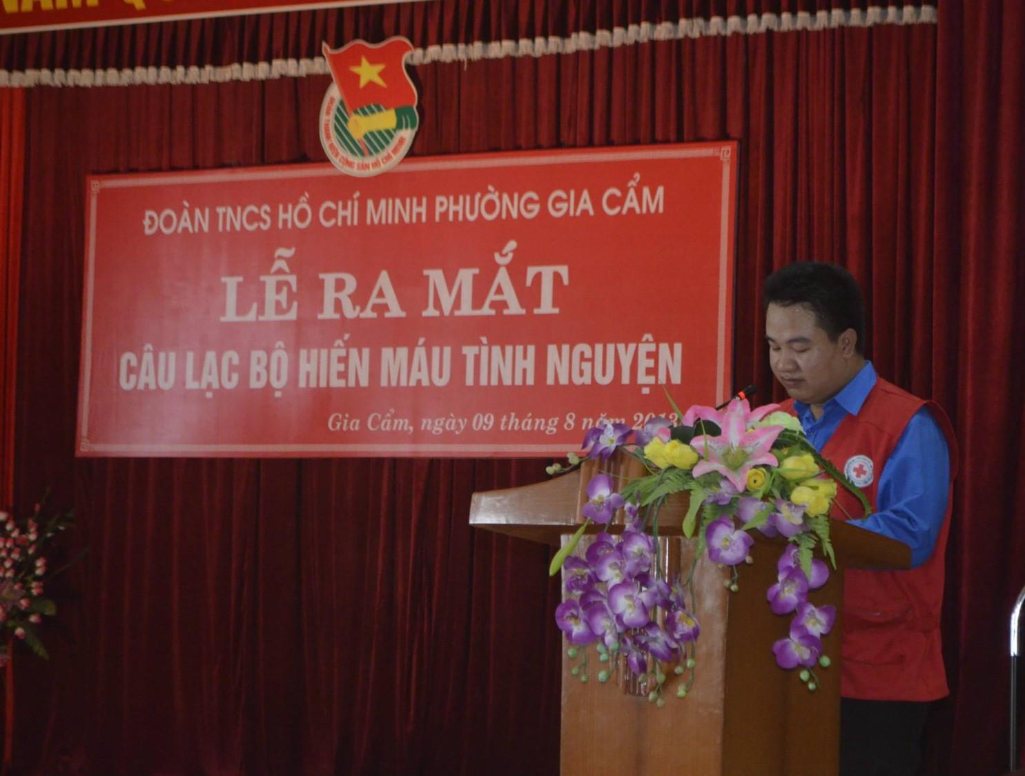 Lễ ra mắt CLB Ngân hàng máu dự bị tỉnh Phú Thọ
