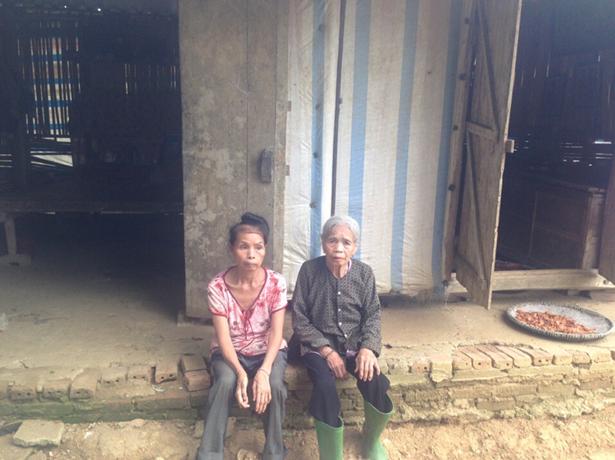 Hai mẹ con nhà chị Bén - địa chỉ nhân đạo được ghi hình